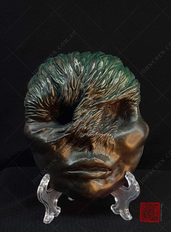 veiled lady - beksinski inspired sculpture