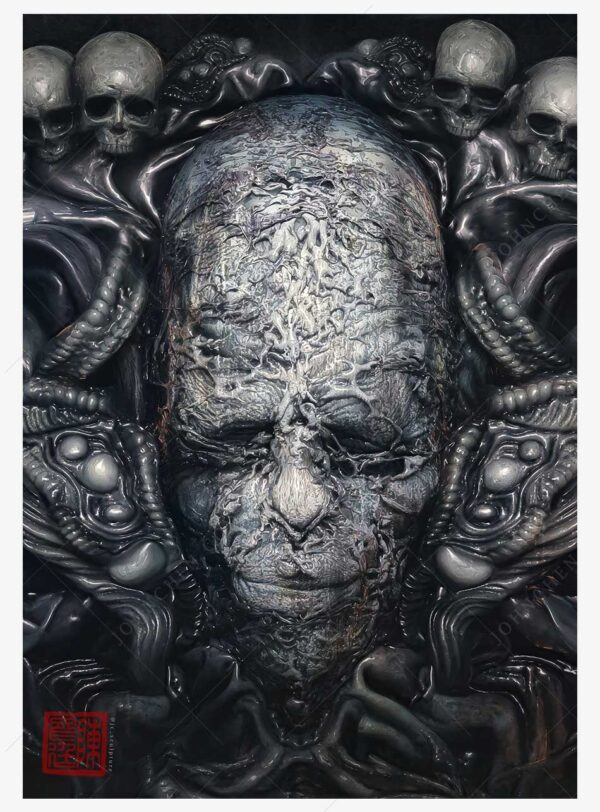 buy Biomechanical deathmask A4 Print