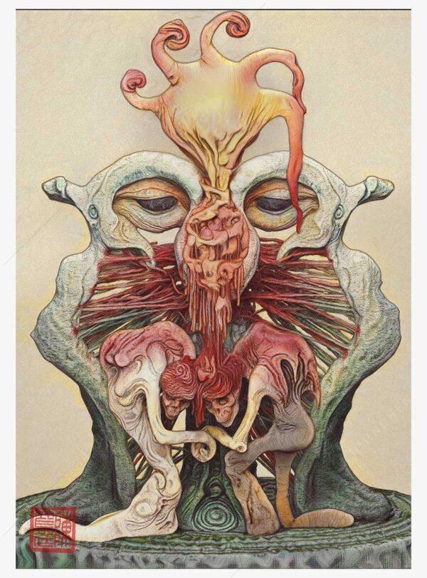 the communion dark art print
