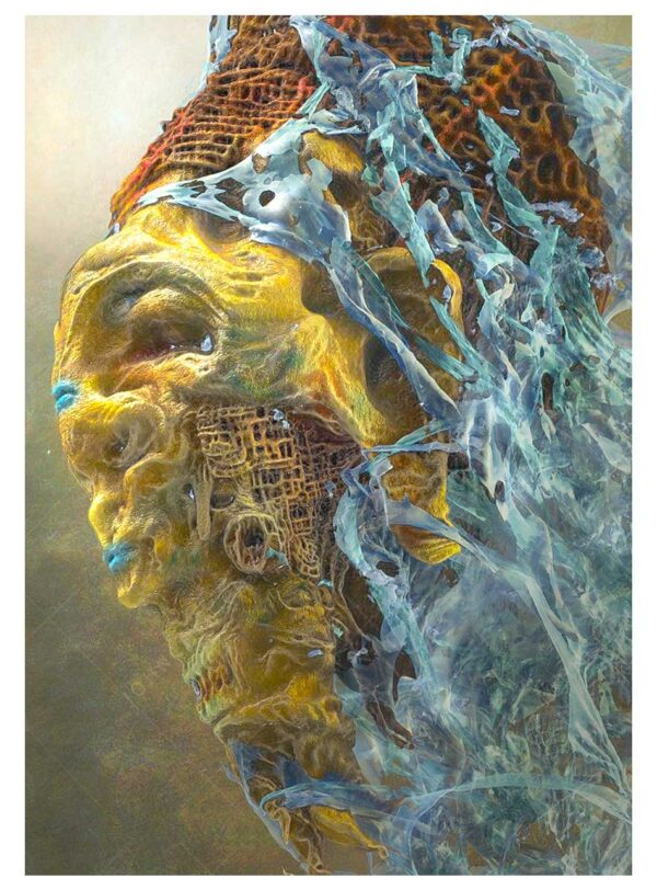 Dream Maker A4 print in the style of zdzislaw beksinski