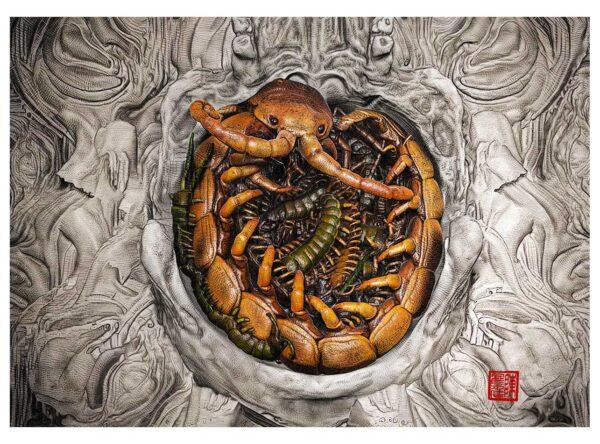 centipede fine art print