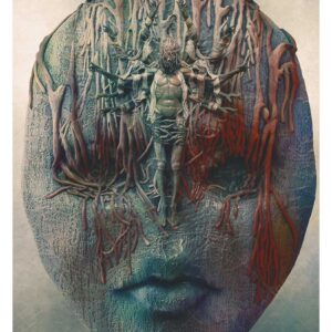 The Saint, beksinski inspired art work print