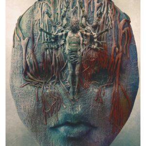 The Saint, beksinski inspired art work print