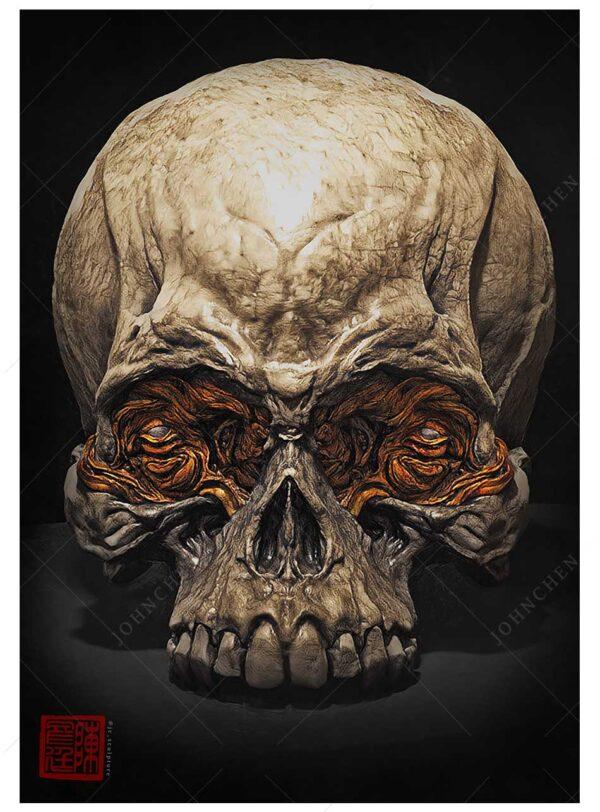 Skull Study dark art print