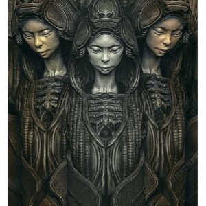 Three Graces - Giger Inspired Fine Art