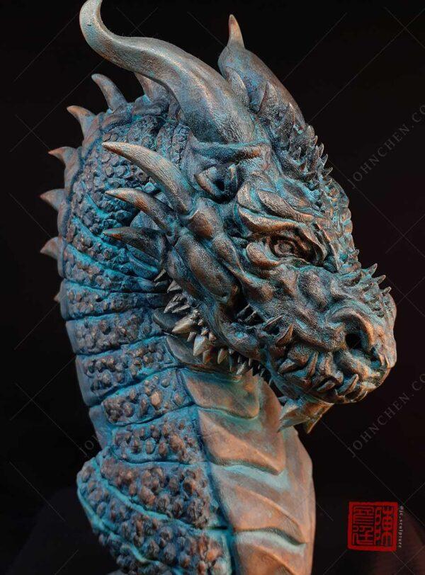 water dragon fine art sculpture