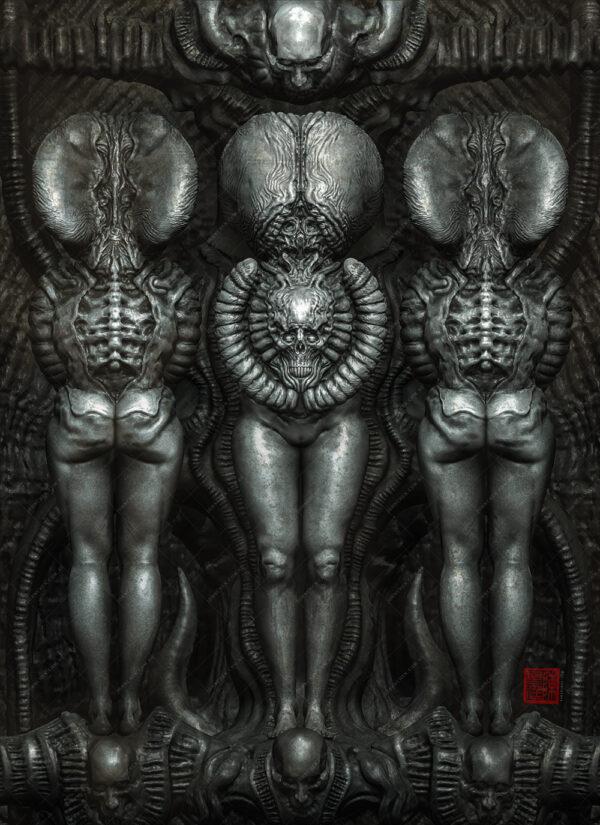 dark totems art print