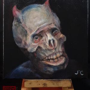 """Procrastination Bob"" oil painting by John Chen"
