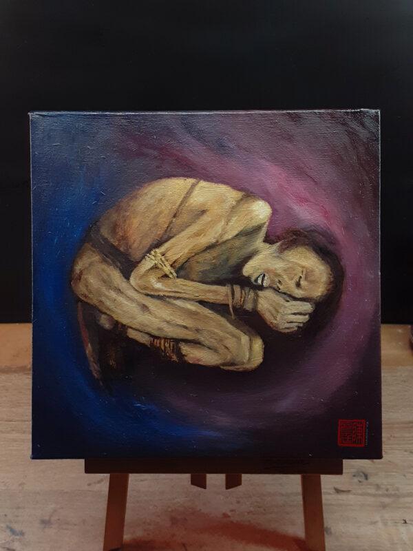 sleeping beauty - original oil painting