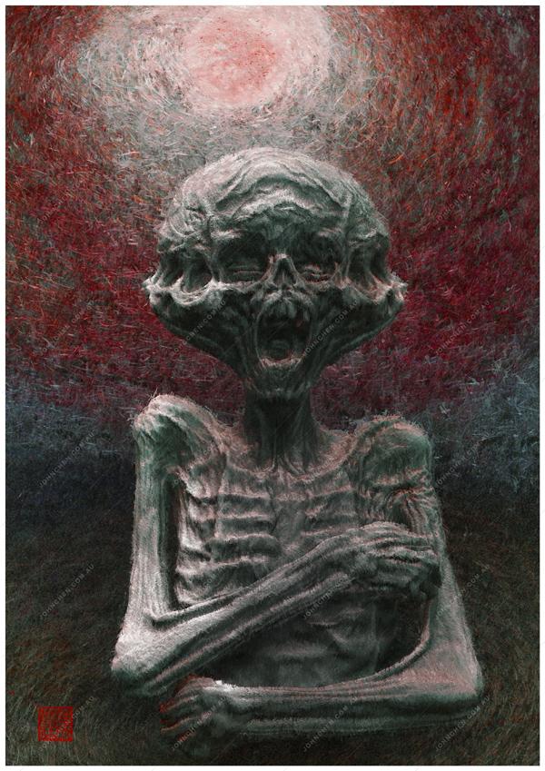 Sacrifice fine art print by john chen